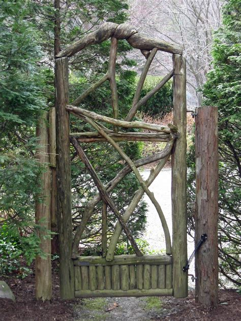 backyard gate garden design details rustic wood gates miss rumphius rules