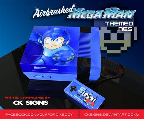 Custom Painted Mega Man Nintendo Nes By Cksignsdeviantart