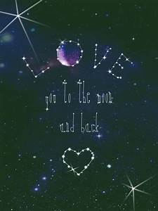 Moon Stars Galaxy with Quotes - Pics about space