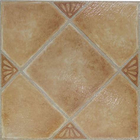 Beige Ceramic Vinyl Floor Tiles  Pcs  Adhesive