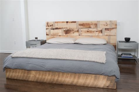 size bed wood made reclaimed wood platform bed by rhg architecture