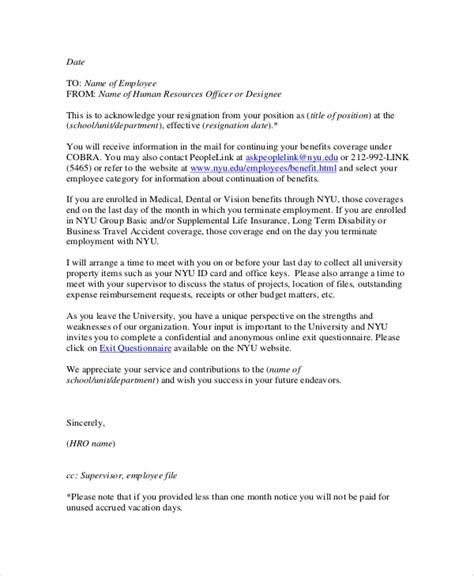 sample email resignation letter  documents   word
