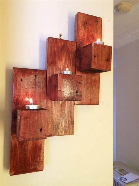 wall candle holder pallet wall mounted candle holders