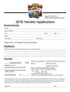 Craft Vendor Application Form Template