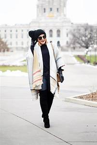 Cape Fever in Minneapolis: Open Poncho + Over-the-knee