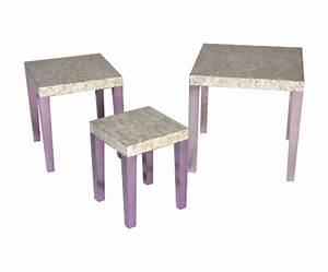 Table D Appoint Gigogne : tables gigogne laque coquille d 39 oeuf demeure et jardin ~ Teatrodelosmanantiales.com Idées de Décoration