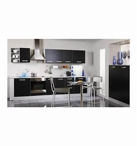 Meuble D Angle Haut Cuisine : meubles haut meuble de cuisine haut d 39 angle 1 porte coloris noi ~ Teatrodelosmanantiales.com Idées de Décoration
