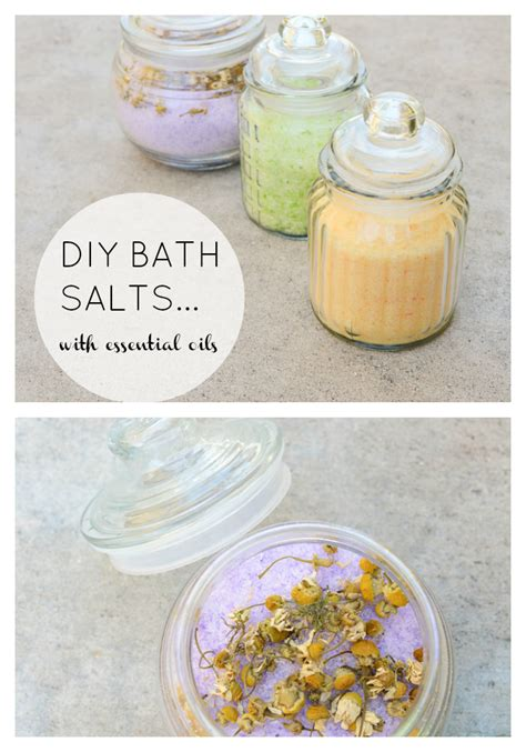 homemade bath salts   tub time extra