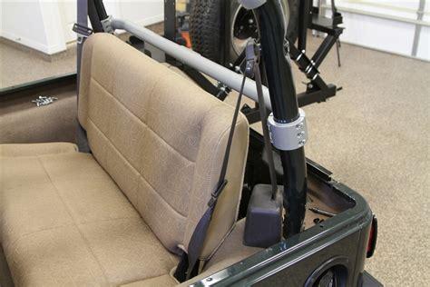 jeep wrangler backseat rock hard 4x4 rear seat harness bar for jeep wrangler tj