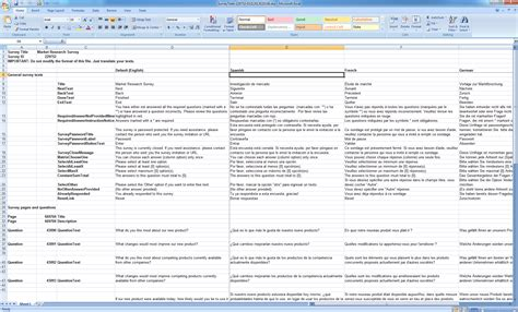 Excel Questionnaire Template - Costumepartyrun