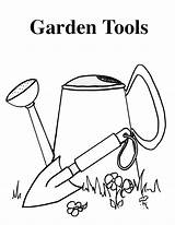 Tools Coloring Vegetable Gardening 1700 Copy 2200 Vegetables Colouring sketch template