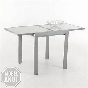 Tisch Glas Metall : esstisch darina tisch in wei glas lack metall alu ausziehbar 70 140x90 ebay ~ Markanthonyermac.com Haus und Dekorationen