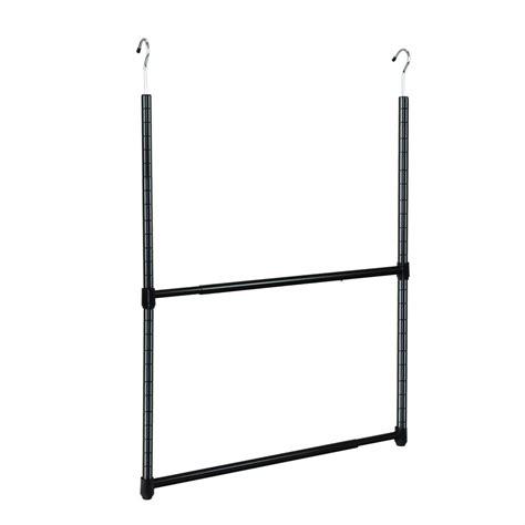 oceanstar 2 tier metal portable adjustable closet hanger