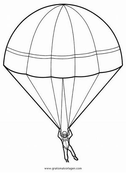Fallschirm Paracadute Colorare Malvorlage Disegni Ausmalbild Disegno