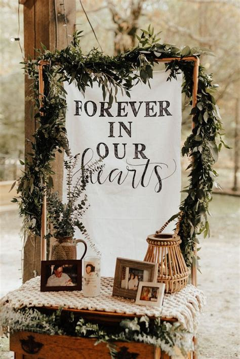 wedding memorial table decoration ideas