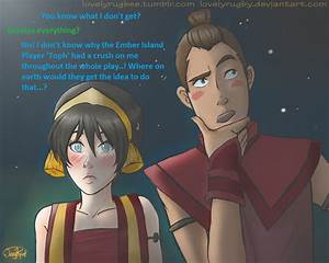 Gee I wonder why sokka. But toph character was a guy ...