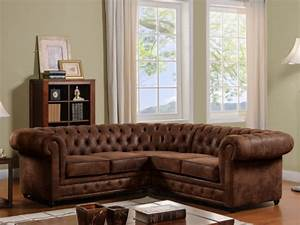 Sofa Vintage Look : chesterfield ecksofa microfaser antoine vintage look kauf unique ~ Whattoseeinmadrid.com Haus und Dekorationen