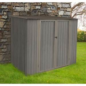 Abri De Jardin Monopente : abri de jardin m tal monopente 3 17m imitation bois vieilli ~ Dailycaller-alerts.com Idées de Décoration