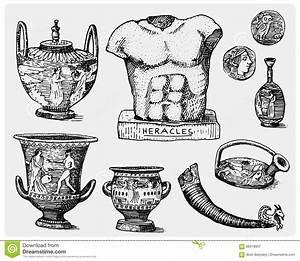 Greece Parthenon Sketch Vector Illustration ...