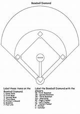 Baseball Coloring Diamond Pages Printable Print sketch template