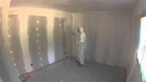 Pistolet Peinture Plafond : sous couche placo au pistolet premi re partie youtube ~ Premium-room.com Idées de Décoration