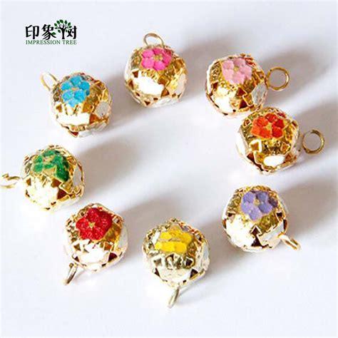 decorative bells jj 10 12 aliexpress buy enamel flower metal bell with jump ring welding 12mm 10pcs lot