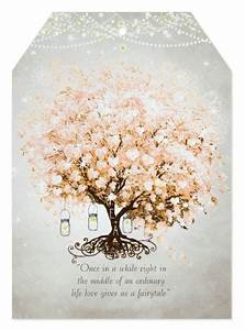 tree hearts with heart shaped leaves with custom wedding With wedding invitations tree of hearts
