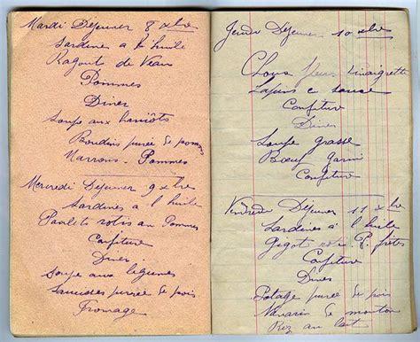 carnet de cuisine carnet de cuisine 1914