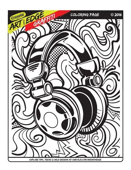 art  edge graffiti coloring page crayolacom
