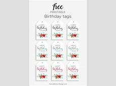 Printable Floral birthday – cards, tags & gift box – Hanna