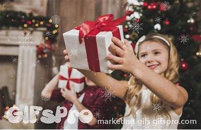 Opening Christmas Gift Gifs Children Boxes Animated