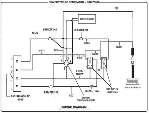 homelite ps907000s 7 000 watt generator mfg no 090930276 parts diagram for wiring diagram