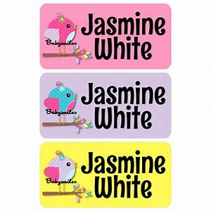 super cute girly birds clothing tag labels baby smiles With cute clothing tags