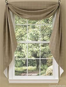 Cobblestone Fishtail Curtain Swags
