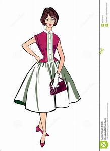 Retro Fashion Clip Art stock vector. Illustration of ...