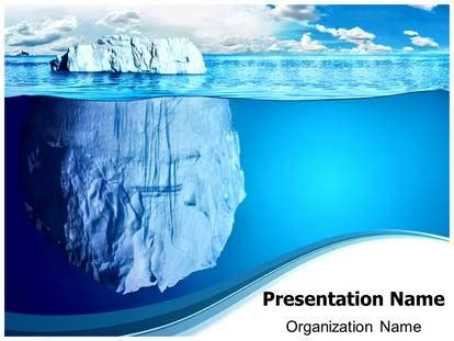 floating iceberg powerpoint template background