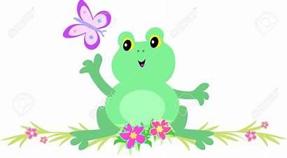 Butterfly Clipart Frog Flower Cartoon Vector Clip