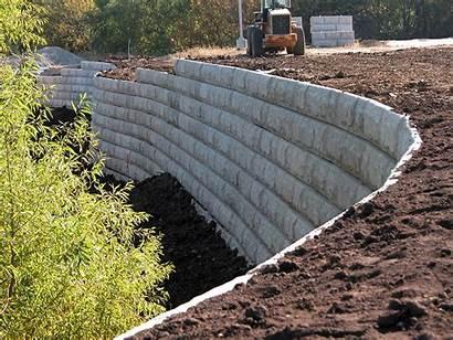 Retaining Wall Earth Precast Stabilized Mechanically Concrete