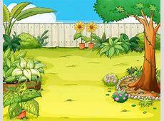 Beautiful Garden Cartoon Art, cartoon of garden