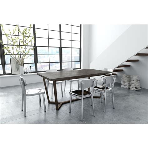 antique grey dining table zuo brooklyn gray oak and antique brass dining table