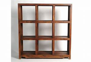 Bibliothèque 4 Cases : biblioth que palissandre double face 9 cases mobilier ~ Teatrodelosmanantiales.com Idées de Décoration