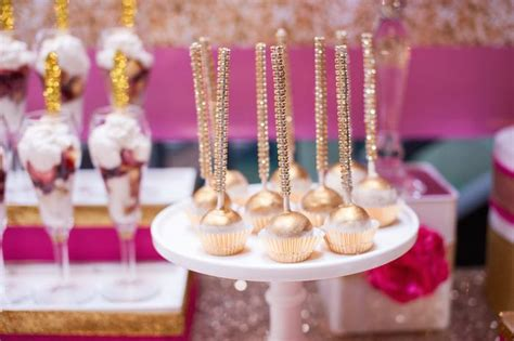 kara s party ideas glamorous pink gold 40th birthday party