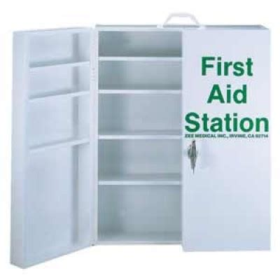 empty first aid cabinet station first aid w lock empty