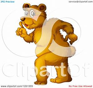 Animal Clipart of a Bear Being Sneaky - Royalty Free ...