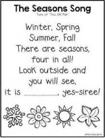 months of the year song for preschool 41 best images about seasons theme on seasons 260