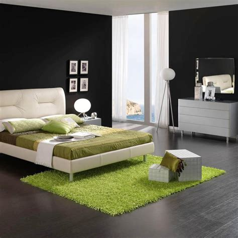 And Green Bedroom by Sharp Black And White Bedroom With Green Decoration