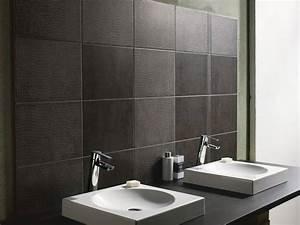 leroy merlin carrelage mural noir de salle de bain With salle de bain design avec carrelage décoratif mural