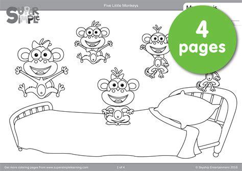 monkeys coloring pages super simple