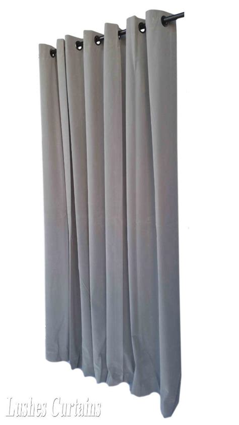 gray 144 quot velvet curtain panel w grommet top