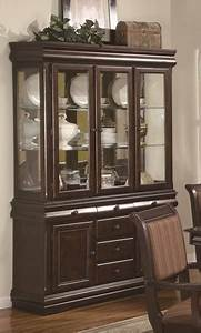 Crown, Mark, Merlot, Brown, Cherry, China, Buffet, And, Hutch